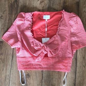 Foxiedox   Coral Crop Top Size S